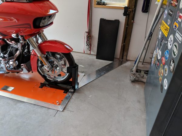 Flush with the floor installation