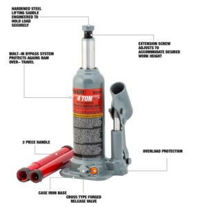 Pro-Lift 4 ton hyd. bottle jack